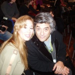 Asimina with actor George Chorafas