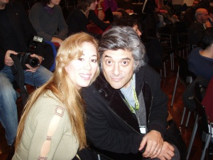 Asimina with actor George Chorafas
