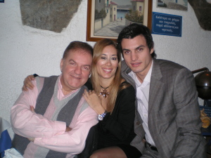 Asimina with designer ASLANIS and Mr International 2006 Aris Bolovinos